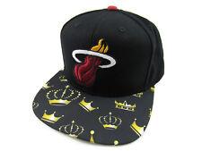 NBA Miami Heat Adidas VA73Z Lebron James #6 Crowns Snapback Black Hat Cap OSFA