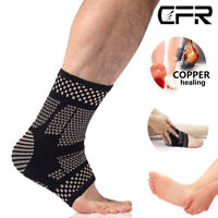 COPPER Plantar Fasciitis Arch Support Compression Ankle Heel feet Brace Sock HG