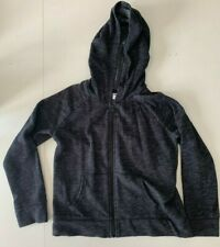 Old Navy Girl's Zippered Hoodie Size L (10-12) Charcoal Gray EUC