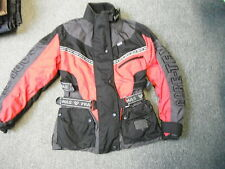 Frank Thomas Small Ladies Black Red & Grey Gore-Tex Motorbike Jacket