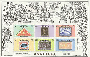 Anguilla  Sir Roland Hill  Mini Sheet of 6 Stamps  British Commonwealth