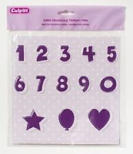 NUMBER TEXTURE MATS FOR USE WITH SUGAR PASTE FOR CAKE DECORATING
