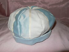 Handmade blue and cream beret
