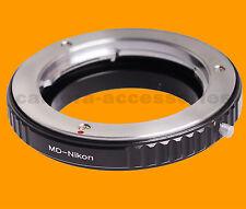 Macro Minolta MC MD SR X-600 lens to Nikon SLR DSLR camera mount adapter ring