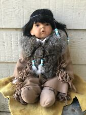 Native American Porcelain Doll Collectible, Handmade Ships Free