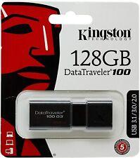 Chiavetta USB da 128 GB Kingston DataTraveler 100, PenDrive da 128 Gb Nero