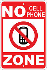 "No Cell Phone Zone Notice 8""x12"" Aluminum Sign"