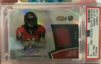 Julio Jones 2011 Topps FINEST Refractor AUTO PATCH /99 Rookie Card PSA 8 RC RPA