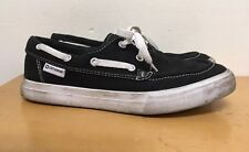 Converse Sea Star OX Boat Shoes: Black/White- Mens Size 7 Womens Size 6