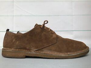 Clarks Originals Desert London Cola Shoes Lace Casual Brown Crepe Sole Men's 14
