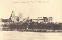 CPA 84 - AVIGNON (Vaucluse) - 6. Château des Papes - Vue des Rives du Rhône - BR