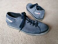 Diesel Grey Suede Trainers Shoes Uk Size 8 EUR 42