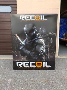 Toys R us EXCLUSIVE RECOIL HUGE CARDBOARD DISPLAY SIGN LARGE SHELF 1