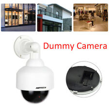 Fake Dummy Dome Realistic CCTV Shop Home Security Camera with Flashing Red LED