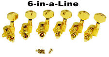 6pc. Beautiful Gold Sealed-Gear Guitar Tuners/Machine Heads (6 Right) 31-15-02