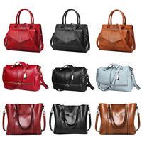 Women Leather Handbag Shoulder Ladies Briefcase Purse Messenger Satchel Tote Bag
