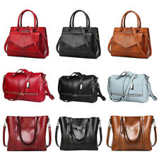 Women Leather Handbag Shoulder Ladies Briefcase Purse Messenger Satchel Tote Bag