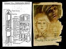 NEDERLAND 2 de WO -1944 PAMFLET UIT PROPAGANDA RAKETJE =DADDY I AM SO AFRAID =
