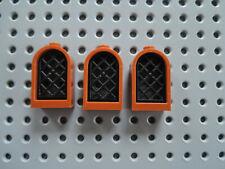 4 burgfenster 1x2x2 2//3 gris foncé avec grille noir 30044 30046 produit NEUF Lego