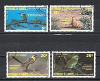 Vögel Dschibuti (86) Serie komplette mit 4 Briefmarken entwertet