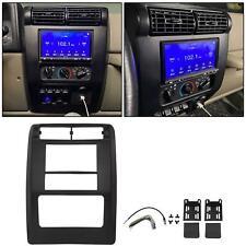 Double Din Radio Dash Kit w/ Wiring Harness For 2003 04 05 2006 Jeep Wrangler TJ
