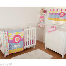 New 4-Piece Girls Sumersault Crib Bedding Set Nursery Baby Blanket Discontinued