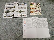 Esci decals 1/72 Gladiator Belgium 1940 P-47D Braz Mex PZL P-11A   N123
