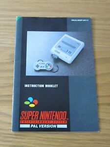 INSTRUCTION BOOKLET FOR THE SUPER NINTENDO (SNES)