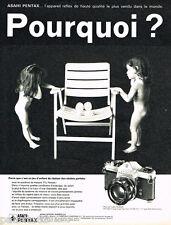 PUBLICITE ADVERTISING 085  1971  ASAHI PENTAX  appareil photo SPOTMATIC SUPER TA