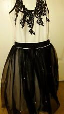 Black and White Medium Tutu Ballet Dress Adult Small