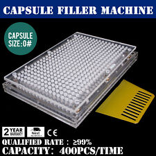 CAPSULE FILLER MACHINE SEMI-AUTOMATIC HYGIENE REQUIREMENT 400 HOLES SIZE 0