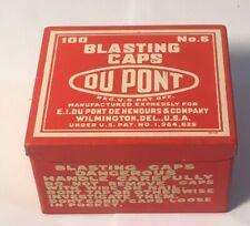 New listing Mining - Du Pont Blasting Caps Tin No.6 - 100 Ct. -Nos? - Very Near Mint