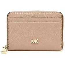 Michael Kors Money Pieces Women's Pebbled Leather Coin Purse Wallet - Fawn