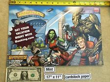"""Guardians of the Galaxy 17"""" x 11"""" Poster 2016 NYCC Booking.com Rocket Groot"""