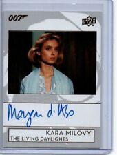 2019 Upper Deck James Bond Bond Autograph Card A-BO Maryam d'Abo/Kara Milovy