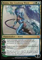 KIORA, THE CRASHING WAVE NM mtg Born of the Gods Gold - Planeswalker Mythic