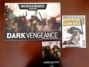 Warhammer 40k Dark Vengeance Boxed Set Complete + Novel and White Dwarf #393