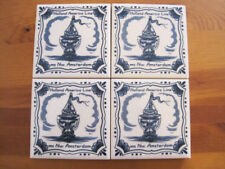 Holland American Line Ms NW Amsterdam Tile blue white 4