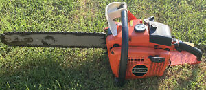 """RARE VINTAGE ECHO CST-610EVL TWIN CYLINDER CHAINSAW  18"""" GREAT SHAPE!!!!!"""