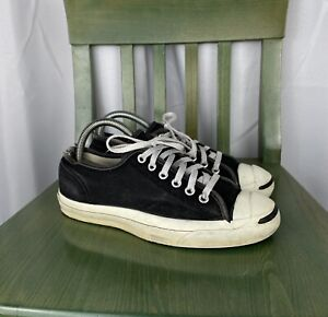 Vintage CONVERSE JACK PURCELL Canvas Shoes Black Made in USA Size 6