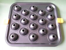 18 Cavity Party Kids Cupcake Baking Mold Cake LolliPop Stick Mold Tray & Clips