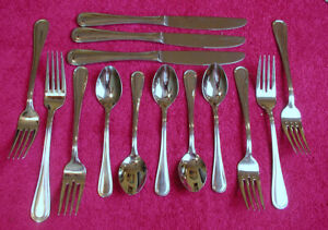Wallace (Modern Thread - Stainless) 14 PIECE ASSORTMENT Exc (SPOON KNIFE FORK)