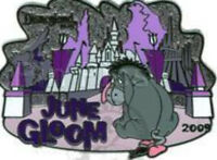 Disney Pin 70489 DLR Eeyore June Gloom Winnie the Pooh Donkey LE