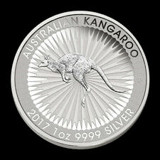 2017-P 1 Troy oz .9999 Silver Australian Kangaroo $1 BU Coin From Mint Roll 6
