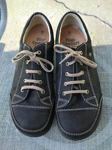Finn Comfort Ikebukuro Black Nubuck Leather Oxford Shoes UK 7.5W US Womens 9.5