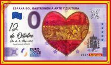 Billet Touristique Souvenir 0 euro Espagne Gastronomie et Culture 2020 Couleur