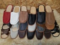 New Mens Brown Leather Slippers Shoes Size 6 7 8 9 10 11 12 Luxury Flip-Flop