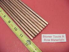 9 Pieces 14 C110 Copper Round Rod 12 Long H04 250 Cu New Lathe Bar Stock