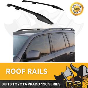 Black Roof Rails suit Toyota Landcruiser Land Cruiser Prado 120 Series