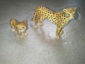 Schleich Cheetah Animal Figurines x 2 73527 & 97